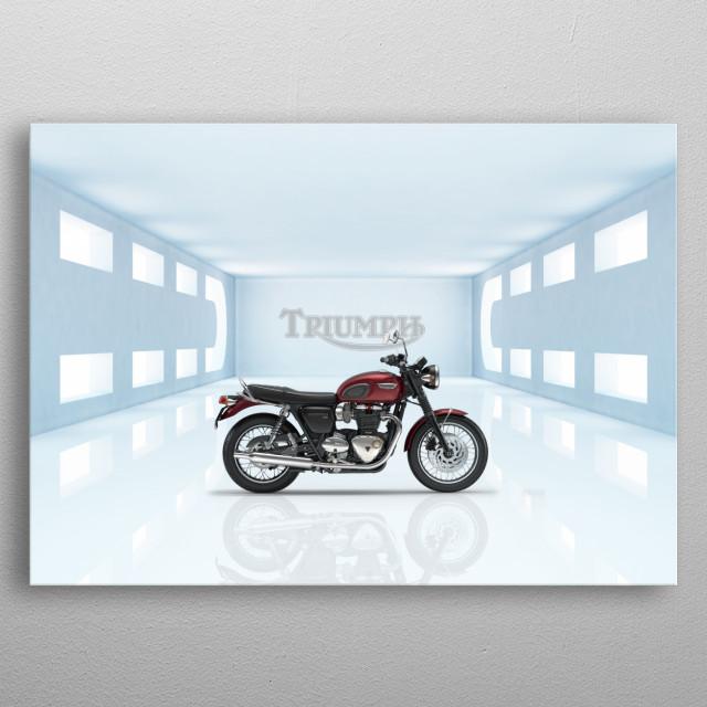 Triumph Bonneville Motorcycle metal poster
