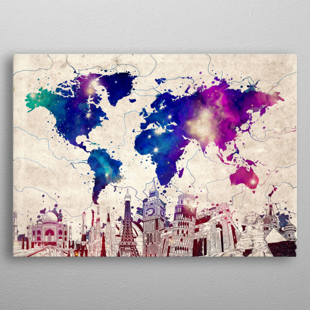 World map skyline vintage Maps Poster Print | metal posters ... on western maps of the world, vintage maps of the world, food maps of the world, abstract maps of the world, historical maps of the world, basic maps of the world, paper maps of the world, light maps of the world, cartoon maps of the world, china maps of the world, cute maps of the world, military maps of the world, wall maps of the world, landscape maps of the world, religion maps of the world, nautical maps of the world, country maps of the world, distorted maps of the world, classic maps of the world,