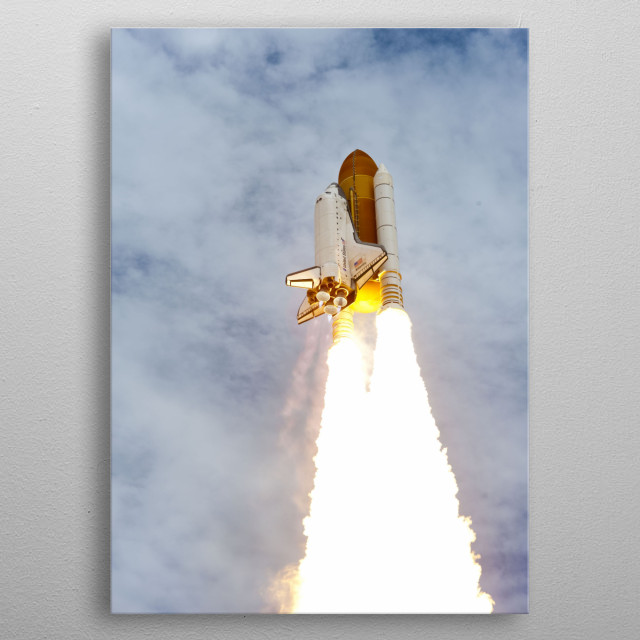 Space Shuttle metal poster