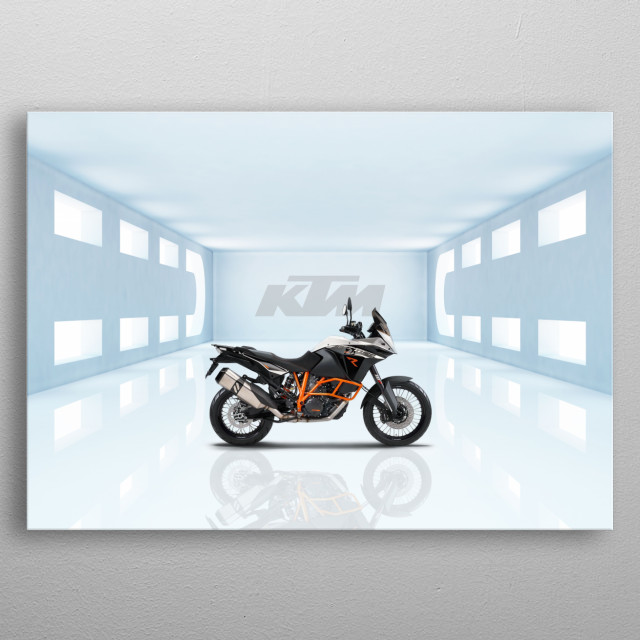 KTM 1190 Adventure Motorcycle metal poster