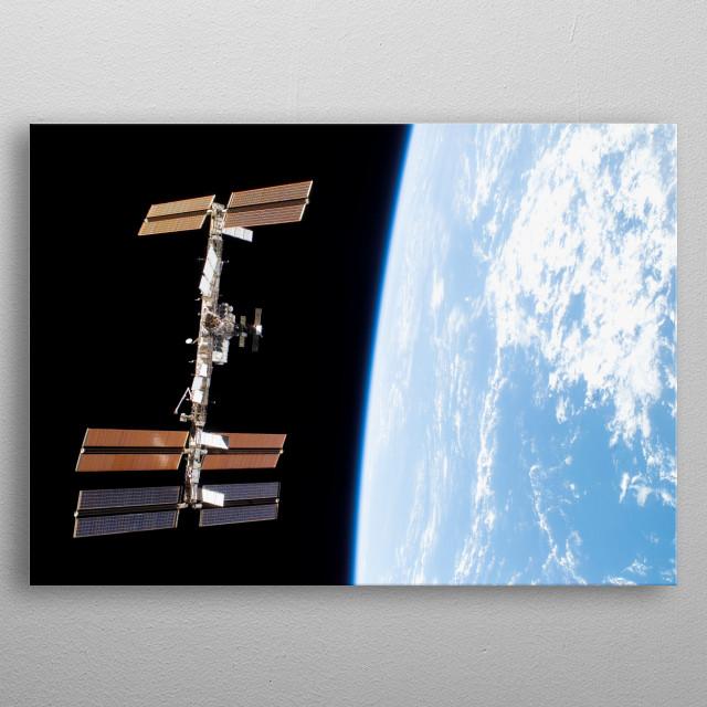 International Space Station  metal poster