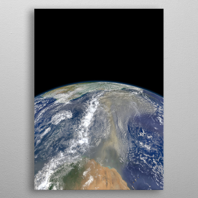 Earth From Above metal poster