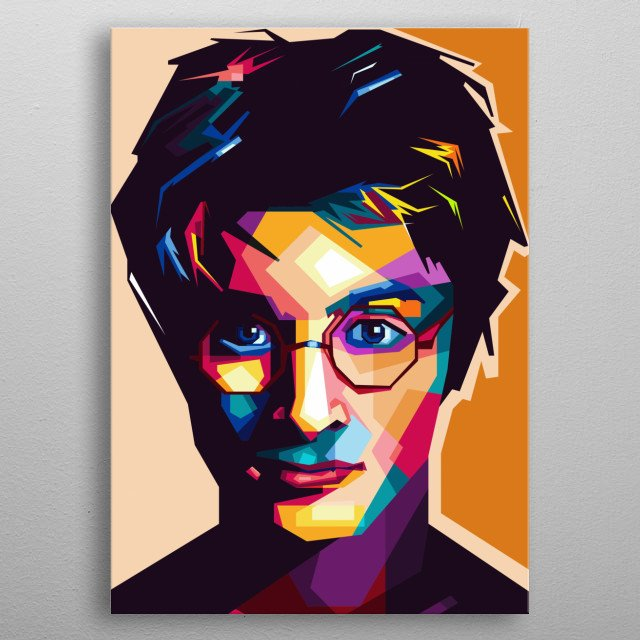 Pooter in Artist WPAP Style Pop Art People Awesome Cool  metal poster