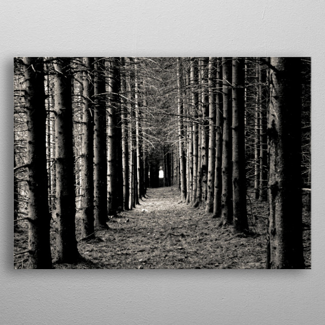 Trees metal poster
