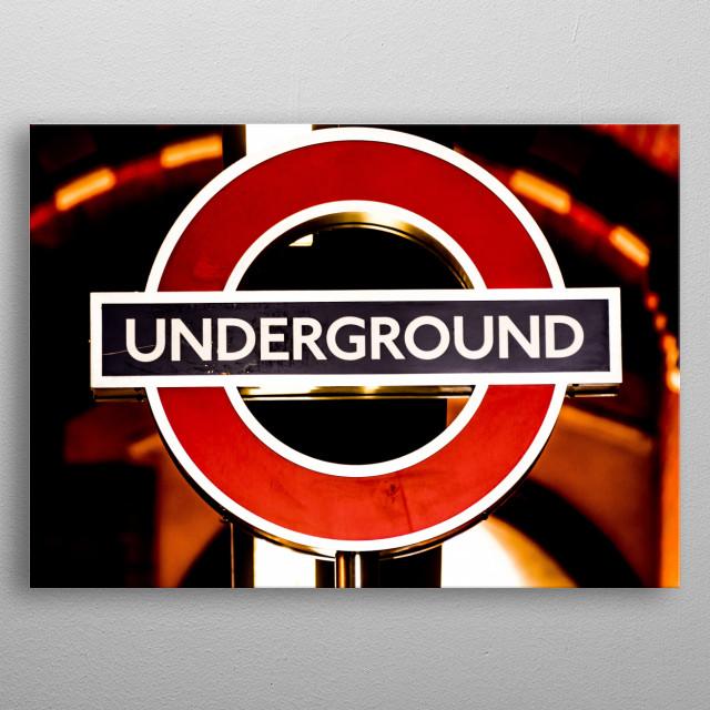 Underground metal poster