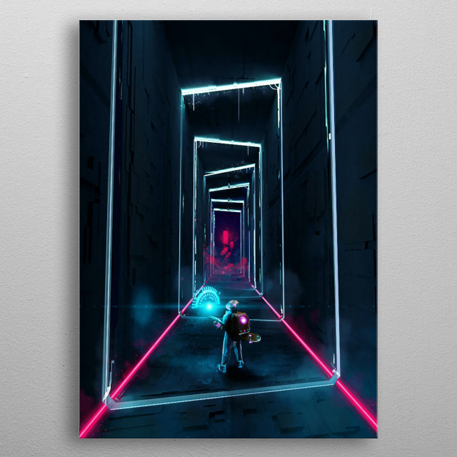 Sci-fi version of the philosopher's stone metal poster
