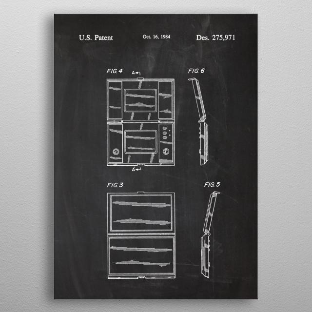 1984 Electronic Pocket Game - Patent Drawing metal poster