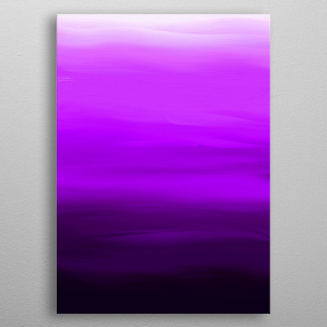 Purple Velvet is an experiment with pure colours in a digital brushed paint format. And because I love purple!! metal poster