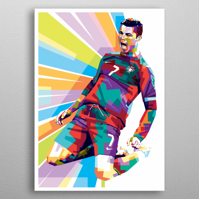 is a Portuguese professional footballer who plays as a forward for Italian club Juventus and the Portugal national team metal poster