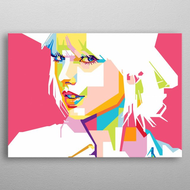 Taylor Swift In WPAP  Taylor Alison Swift is an American singer-songwriter. One of the world's leading contemporary recording artists metal poster