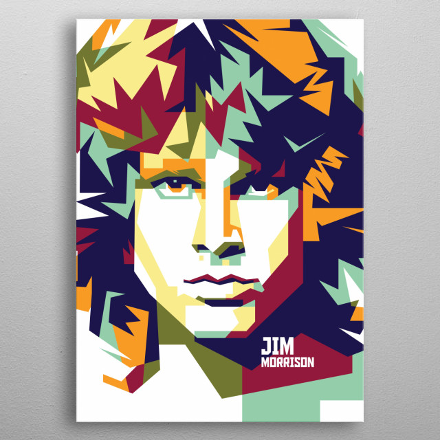 was an American singer, songwriter and poet, best remembered as the lead vocalist of the rock band The Doors metal poster