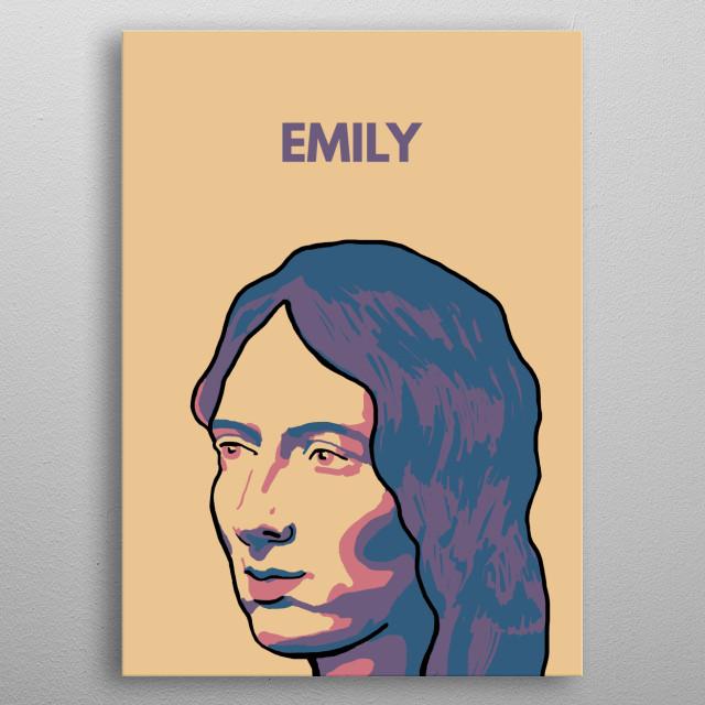 Emily Bronte! metal poster