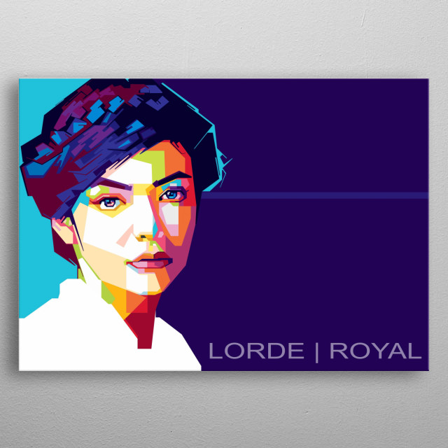 Ella Marija Lani Yelich-O'Connor, known professionally as Lorde, is a New Zealand singer, songwriter, and record producer. metal poster