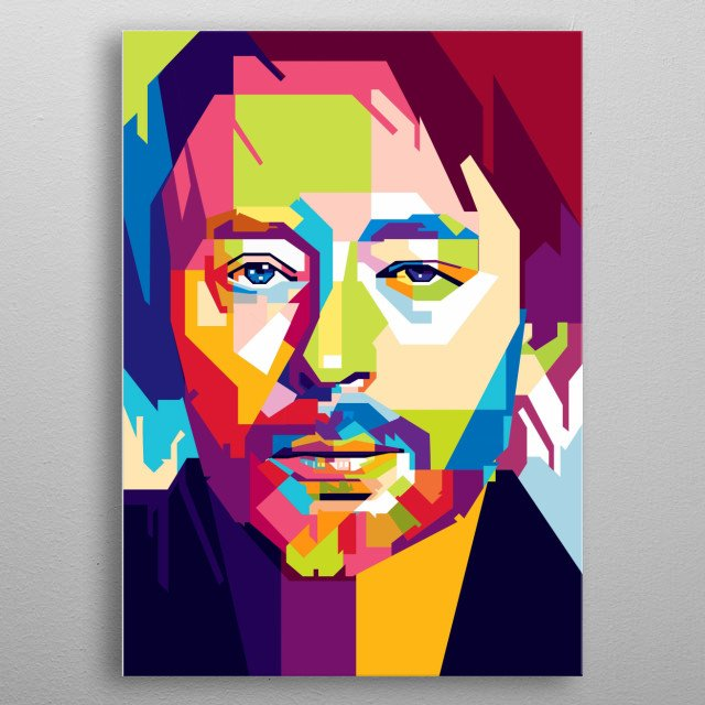 Thomas Edward Yorke is an English musician best known as the lead singer and main songwriter of the alternative rock band Radiohead metal poster