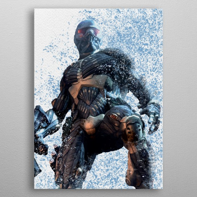 rendered in photoshop metal poster