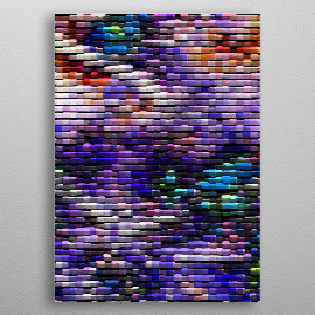 This very abstract and colourful artwork was actually created digitally from a photo of a tree. metal poster
