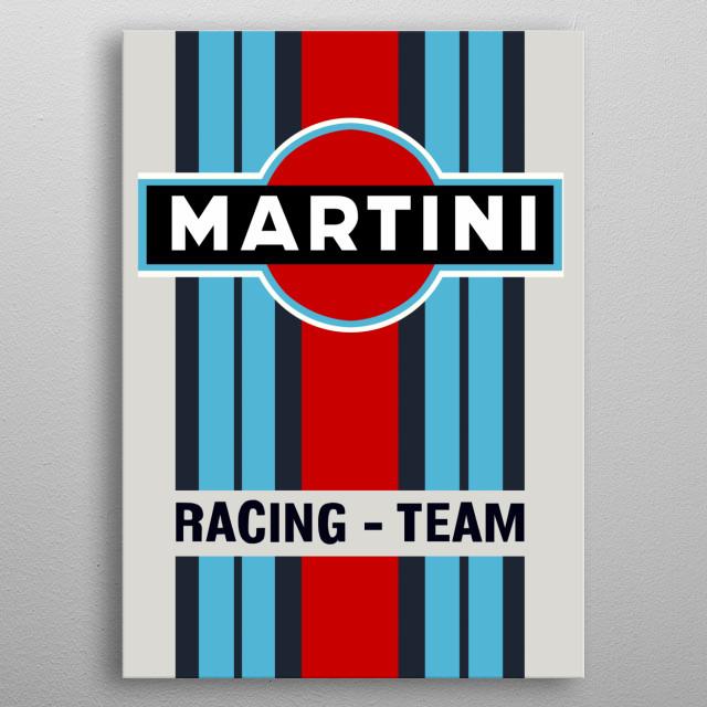 Colorful classic Martini racing team metallic poster metal poster