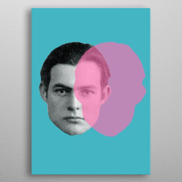 Ernest Hemingway! metal poster