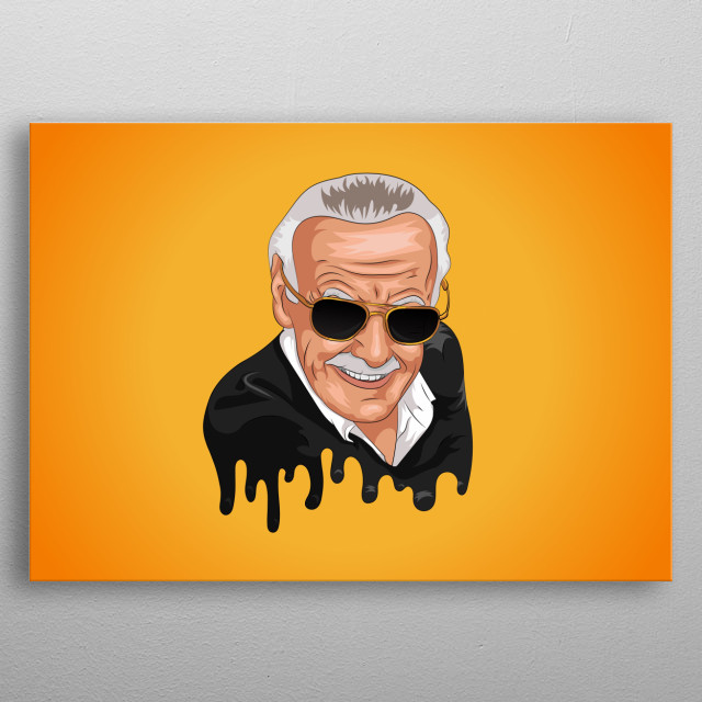 Tribute Illustration of Stan Lee. metal poster