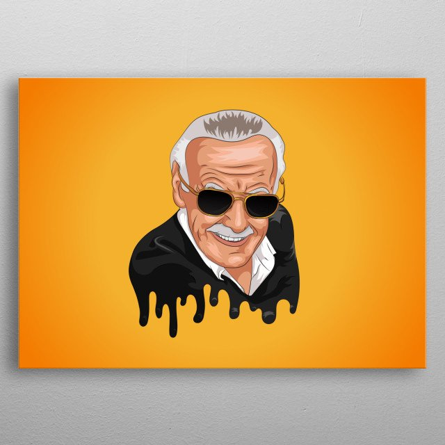 Tribute Illustration of Stan Lee. metal poster