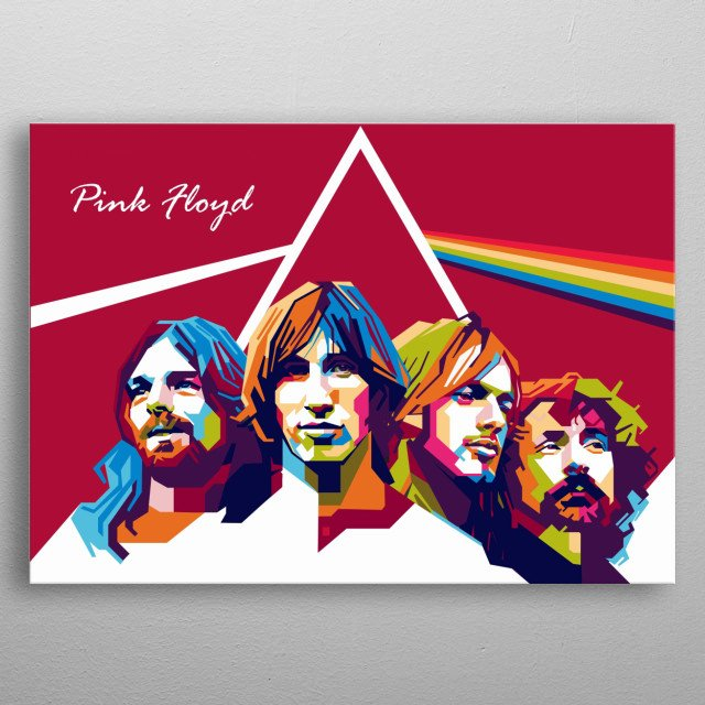 Pink Floyd were an English rock band formed in London in 1965. They achieved international acclaim with their progressive and psychedelic metal poster