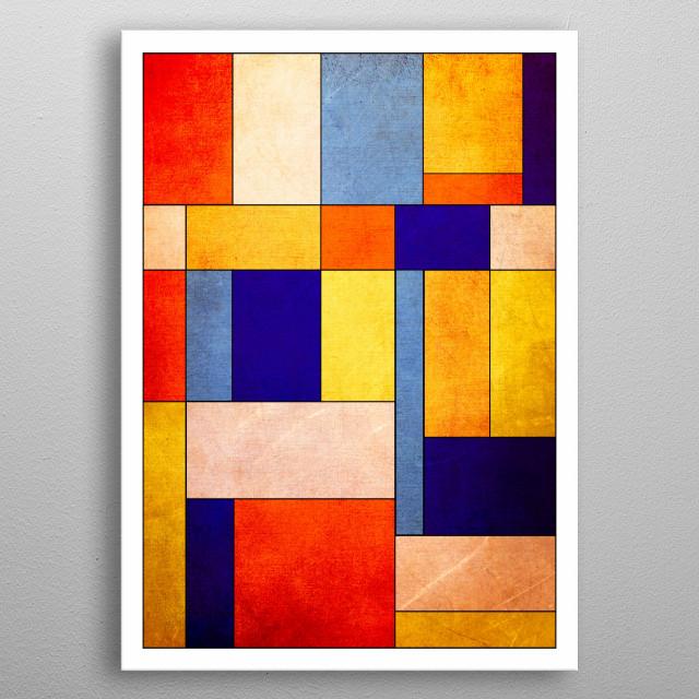 Abstract geometric minimalist design by R. Trickett. metal poster