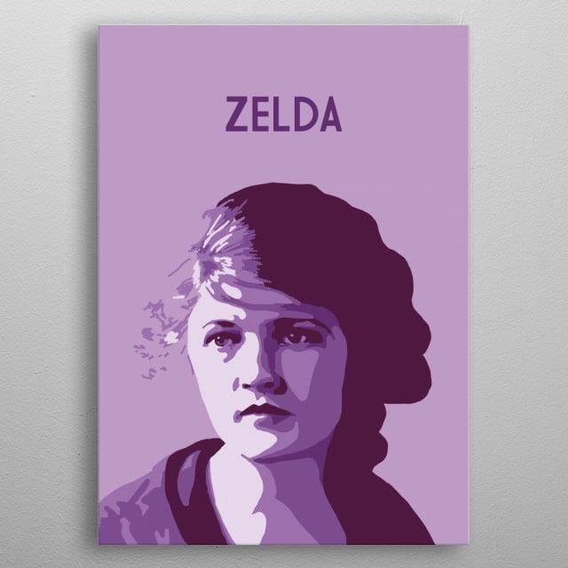 Zelda Fitzgerald metal poster