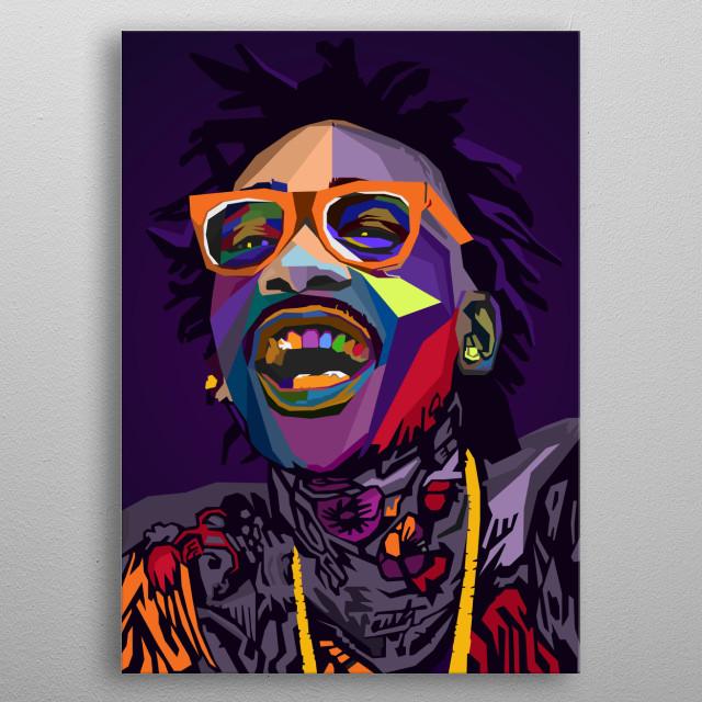 Wiz Khalifa WPAP Pop Art metal poster