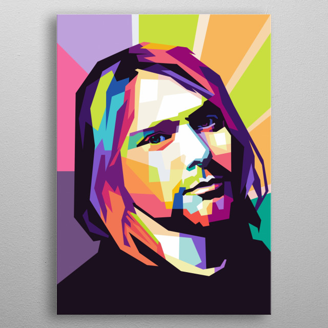 was an American musician. He was the lead singer and guitarist of the grunge band Nirvana, He was also a left handed guitarist. metal poster