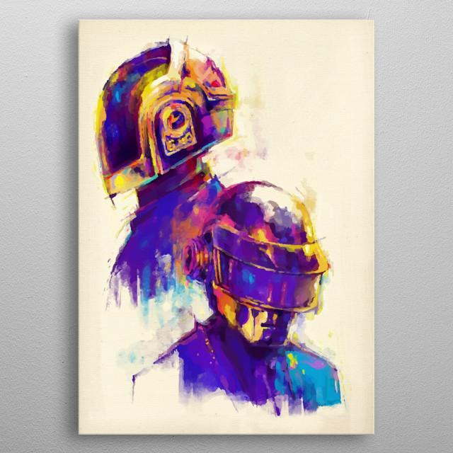 Daft Punk Painting illustration  metal poster