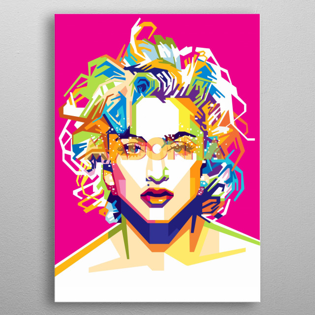 """Madonna Louise Ciccone is an American singer-songwriter, actress and businesswoman. Referred to as the """"Queen of Pop"""" since the 1980s metal poster"""