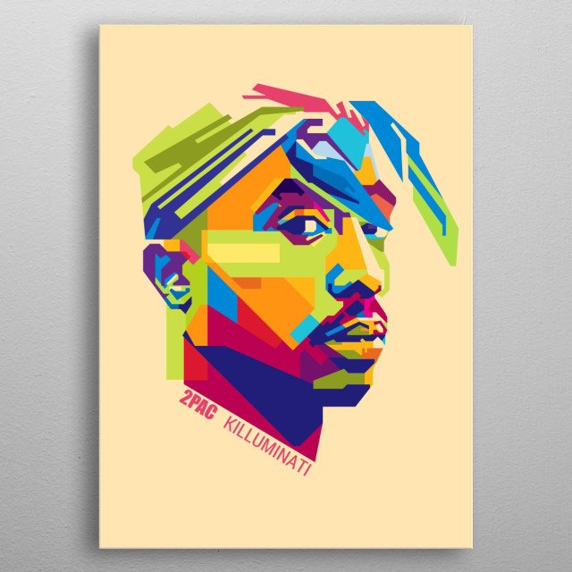 2Pac, was an American rapper and actor. He is considered by many to be one of the greatest hip hop artists of all time metal poster