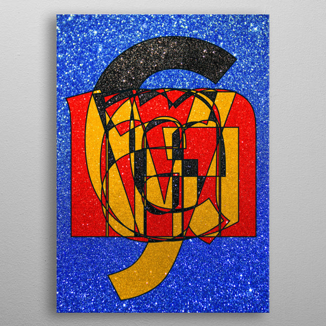 GERMANY – Glitter Frankenberg TypoWorks © Frankenberg 2016 germany, berlin, Frankfurt, hamburg, Köln, black, red, gold, europe, autobahn,... metal poster