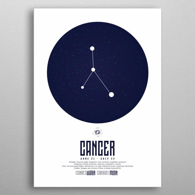 Zodiac - Cancer - Sign - Horoscope - Spirituel - Poster - Print metal poster