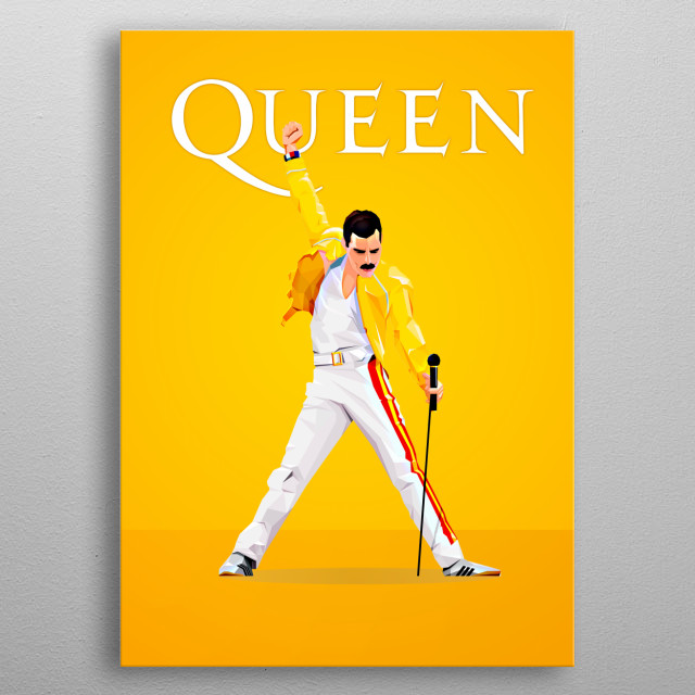British singer-songwriter and record producer, best known as the lead vocalist of the rock band Queen. metal poster