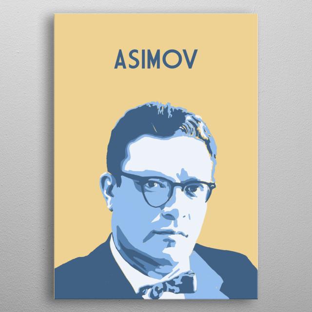 Isaac Asimov metal poster