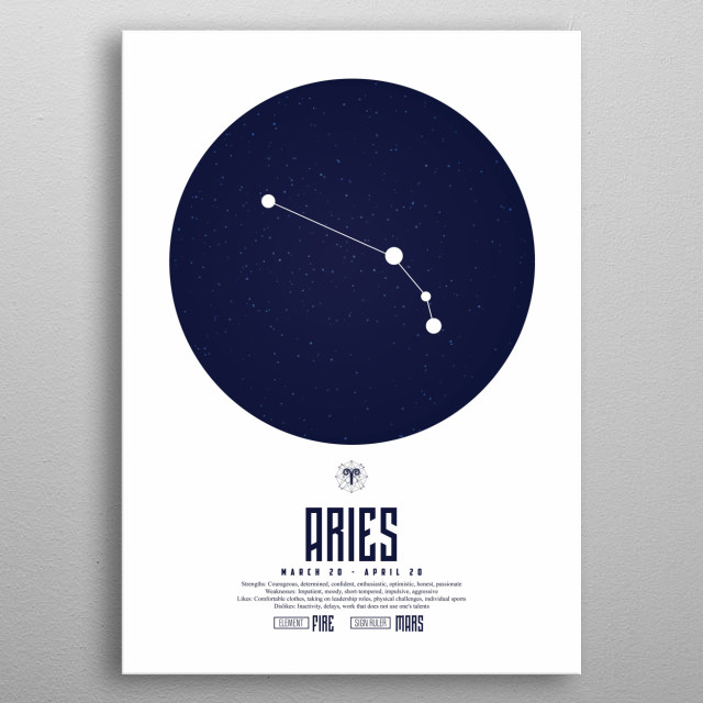 Aries - Zodiac | Astrology Sign metal poster