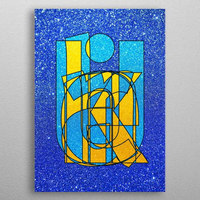 UKRAINE – Glitter Frankenberg TypoWorks © Frankenberg 2016 Ukraine, Blue, yellow, Glitter, metal poster