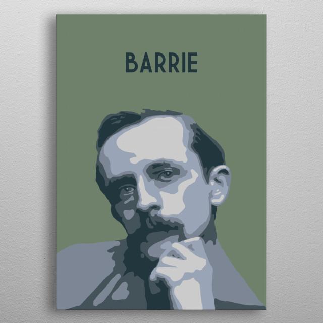 J M Barrie metal poster