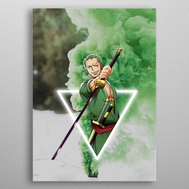 Roronoa Zoro Anime Manga Poster Print Metal Posters