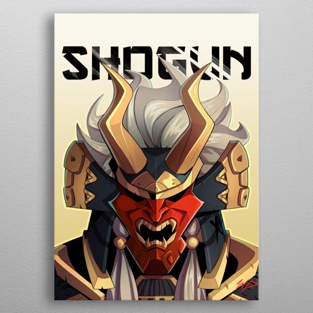 Shogun metal poster