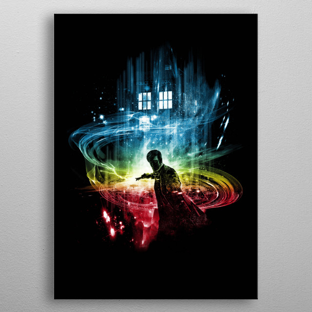 a tribute to  the 10th doctor metal poster