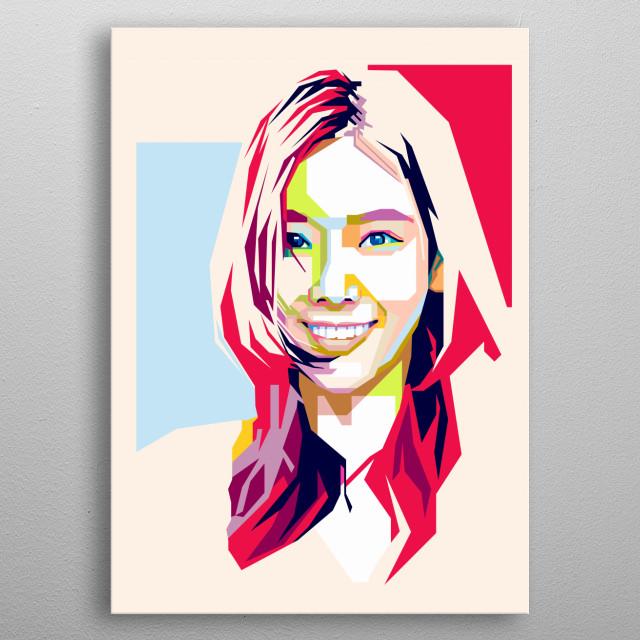 Kim Taeyeon in WPAP Art metal poster