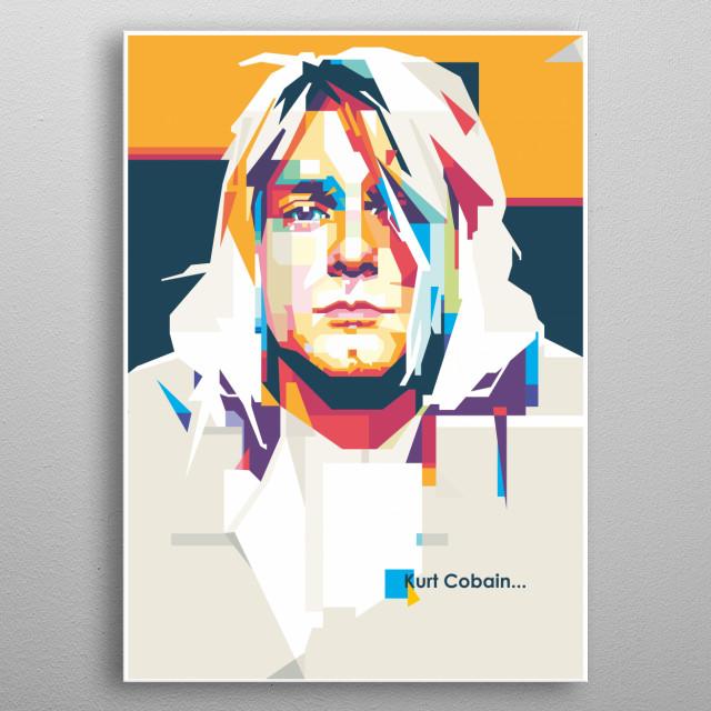 Kurt Cobain in WPAP Style metal poster