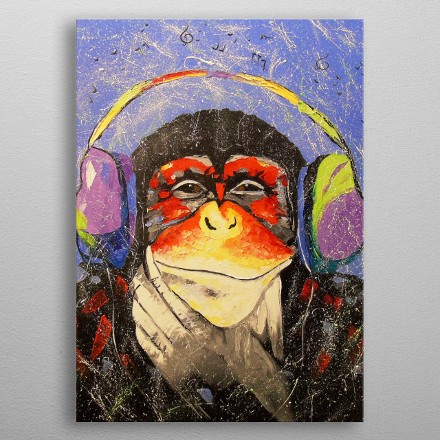 Music lover, oil painting on canvas, 100% handmade palette knife and high-quality oil, decorate your interior and for a long time will give  metal poster