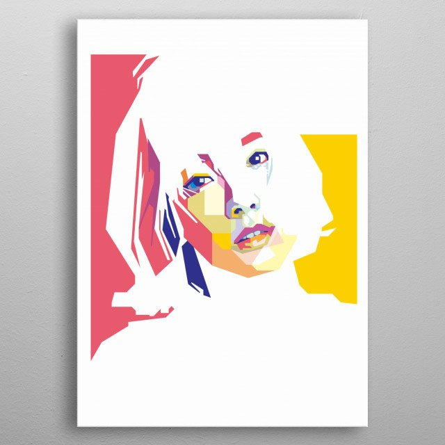 Kim Taeyeon in WPAP Art metal poster