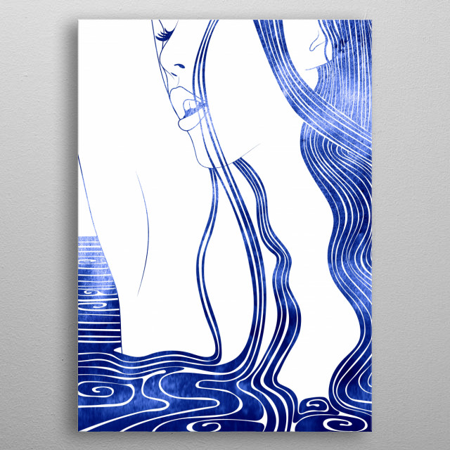Limnoreia - A mythological nereid. One of the daughters of the Nereus, the Old Man of the Sea metal poster