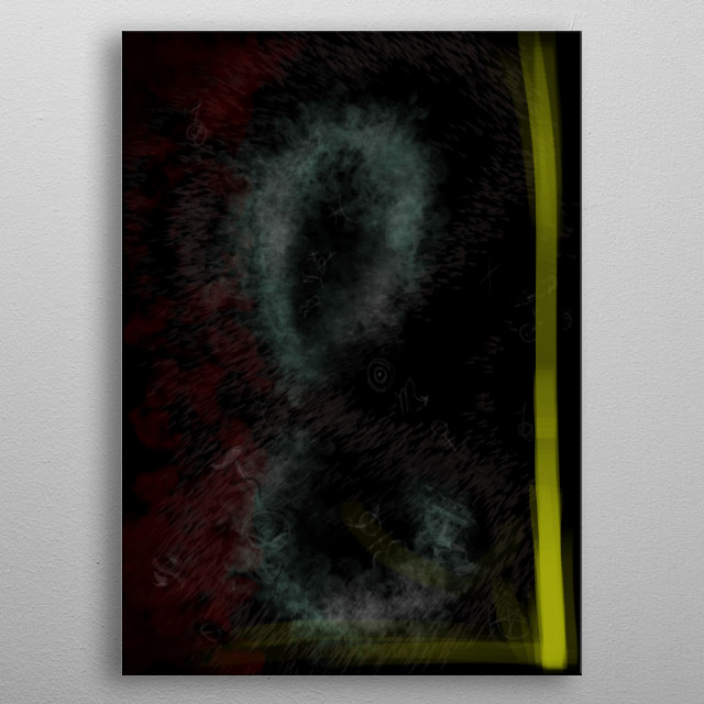 Abstract signs poster illustration metal poster