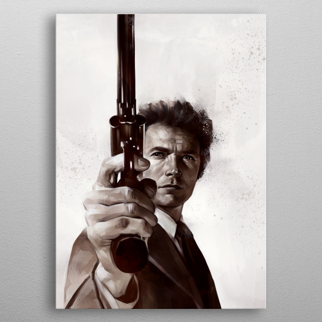 Dirty Harry metal poster
