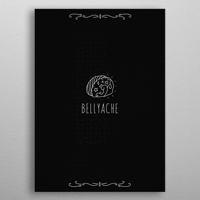 """Billie Eilish's """"Bellyache"""" soundtrack illustrated to help understand the meaning behind the song—a person's journey with freedom claimed. metal poster"""